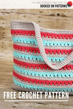 Beach Please Tote Crochet Pattern by Loops & Love Crochet - Find this free bag crochet pattern listed under Free Beach Bags & Tote Patterns in the Hooked On Patterns Indie Designers Directory Crochet Beach Bags, Free Crochet Bag, Crochet Purse Patterns, Crochet Wallet, Crochet Market Bag, Handbag Patterns, Crochet Tote, Crochet Handbags, Tote Bag Patterns