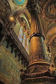 Fourvière Basilica. Lyon, Rhône.