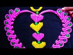Macrame 💓 Heart Key Hanger Tiutorial in Hindi ! Full HD Part – Macrame Door Hanging Decorations, Macrame Art, Art Drawings, Hanger, Crochet Necklace, Heart, Key, Make It Yourself, Youtube