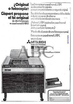 ¿original o fotocopia? Gispert propone el bi-original. Mitsubishi. Año 1972.
