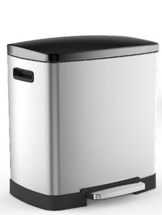 Steeldesign Duo Oval afvalemmer/ pedaalemmer 40 liter