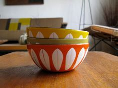 Scandinavian patterns from the 1950's. (Looks adorable with my Fiestaware).