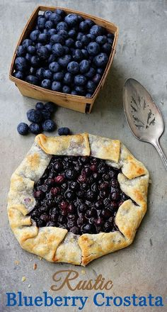 A 30 minute Blueberry Crostata Recipe. Also known as galette rustic pie or rustic tart it is perfect for new bakers You cannot go wrong with this one.