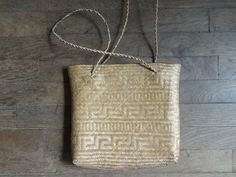 Vintage Balinese Bali Woven Grass Backpack Hand Bag Tribal Carrier Handbag circa 1980's / English Shop by EnglishShop on Etsy