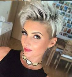Best Womens Hairstyles For Fine Hair – HerHairdos Pixie Haircut For Thick Hair, Funky Short Hair, Short Hair Undercut, Short Grey Hair, Undercut Hairstyles, Short Hair Cuts For Women, Pixie Hairstyles, Short Hair Styles, Haircut Short