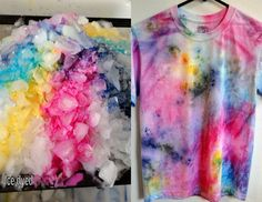 Easy Fabric Dyeing - Part I. Describing the basics of easy fabric dyeing. Ice Tie Dye, How To Tie Dye, How To Dye Fabric, Dyeing Fabric, Tie Dye Tutorial, Fabric Dyeing Techniques, Tie Dye Techniques, Diy Ombre, Patterns Background