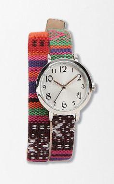 Tribal Wrap Watch $34