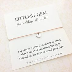 Friendship Bracelet - Best Friend Gift - Best Friend Bracelet - Gift for Her - Sentimental Gifts - Funny Gift