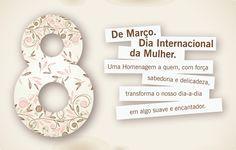 Parabéns à todas as mulheres pelo dia 8 de março – Dia internacional das Mulheres, em especial à minha mãe, que é o meu grande exemplo de mulher, de mãe, de amiga, de companheira e representa toda a força de superação dos desafios que a vida nos impõe.