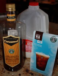 Starbucks caramel iced coffee at home! My new addiction at Starbuck's....now time to make it for myself!