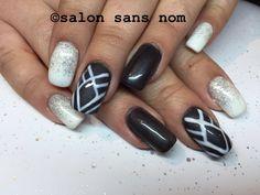 Grey and white glitter.