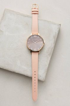 Olivia Burton Big Dial Watch from Anthropologie Olivia Burton, Trendy Watches, Cool Watches, Cheap Watches, The Bling Ring, Watch Brands, Luxury Watches, Quartz Watch, Fashion Watches
