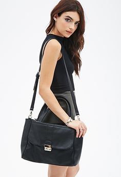 Pebbled Faux Leather Satchel   FOREVER21 - 1000116739 Forever 21 Fashion,  White Purses, Cheap 85a5281c6e
