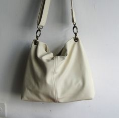 Cross Body Egg shell Leather Bag