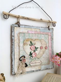 Tutti guardano le nuvole - Scrapbooking Rose Dipinte