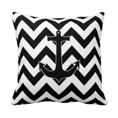 Monochromatic Gifts on Zazzle Chevron Throw Pillows, Decorative Throw Pillows, Pillow Quotes, Zig Zag Pattern, Custom Pillows, Anchor, Etsy, Silver Glitter, Floral Watercolor