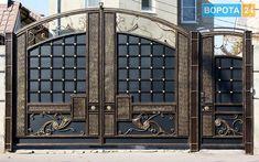 Gate Wall Design, House Main Gates Design, Steel Gate Design, Front Gate Design, Main Door Design, Front Gates, Entrance Gates, Modern Main Gate Designs, Double Doors Exterior