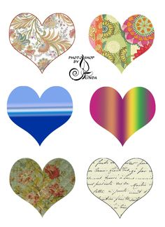 Hearts to print and give to your love