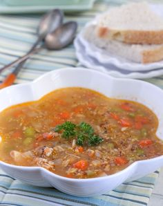 Lemon Chicken Quinoa Vegetable Soup**