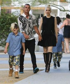 Gwen Stefani and Gavin Rossdale take their boys Kingston and Zuma to a friend's wedding