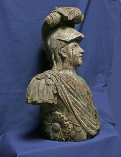 nautical figureheads | Carved Ship's Figurehead of Roman Warrior - Vallejo Maritime Gallery ...