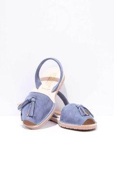 e36e1e78df78 Borla - Tassel Suede Menorcan Sandals