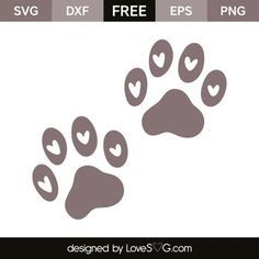 *** FREE SVG CUT FILE for Cricut, Silhouette and more *** Paws