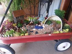 Old wagon Fairy Garden