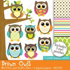 """This is a set of 18 PNG files with transparent background, 18 JPG Files and 3 different digital paper designs. The digital papers are 8.5""""x11"""" JPG files. All these files are watermark-free."""