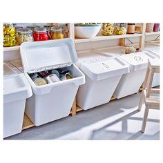 ideas for ikea garage storage recycling bins Storage Bins With Lids, Ikea Storage, Laundry Room Organization, Closet Storage, Garage Storage, Kitchen Storage, Storage Shelves, Plastic Storage, Small Storage