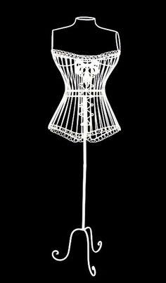 White stuff bird cage dress form