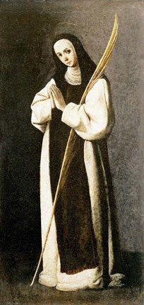 Portrait of a Nun of Jeronimite Order by Zurbaran
