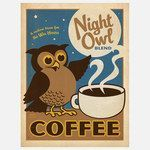 Night Owl Coffee Print