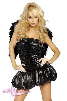 Besuche uns gern auch auf dressme24.com ;-) Sexy Dark Angel Kostüm - Ein sexy trägerloses Minikleid mit gerafften Style. Mit eingenähtem Mini-Petticoat. Top Qualität aus den USA. #Engelskostüm, #Damenkostüme, #Faschingskostüme