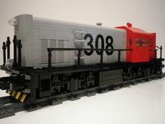 1 (7) | Flickr - Photo Sharing! Toys For Boys, Boy Toys, Lego Trains, Rolling Stock, Lego Moc, Steam Engine, Lego Ideas, Legos, Engineering