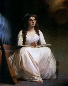 Lady Hamilton as Saint Cecilia George Romney (1785)
