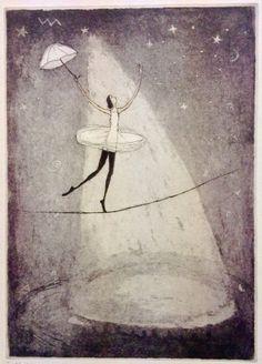 Emmi Vuorinen grafiikkaa teos/taulu Tähti - Life Art Oy Drypoint Etching, Painter Artist, Conceptual Art, All Art, Printmaking, Surrealism, Helene Schjerfbeck, Modern Art, Illustration Art