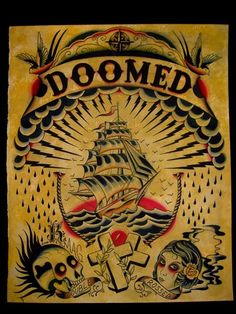 Doomed Tattoo Flash | KYSA #ink #design #tattoo