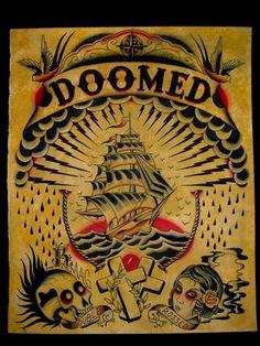 Doomed Tattoo Flash | KYSA #ink #design #tattoo