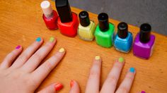 Rainbow Party - maybe have a nail painting station?