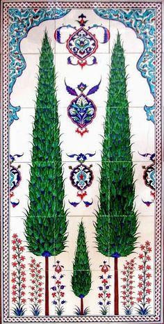 Inspiration for DIY painting tiles or painting fabric.turkish_tile_art_selvili_b. Turkish Tiles, Turkish Art, Portuguese Tiles, Moroccan Tiles, Islamic Tiles, Islamic Art, Islamic Motifs, Iranian Art, Tile Murals