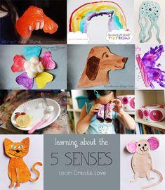 Preschool Weekly Theme: 5 Senses (recap post) at http://learncreatelove.com