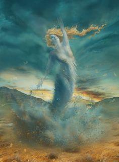 Wind by Cathrine Langwagen aka Cassiopeia Art