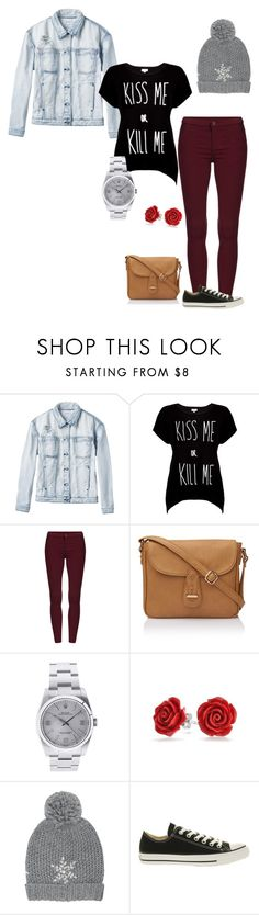 """""""Untitled #181"""" by bambii691 ❤ liked on Polyvore featuring RVCA, Rotten Roach, Rolex, Bling Jewelry, M&Co and Converse"""