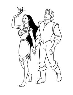 Pocahontas Coloring Page Disney coloring pages Pinterest