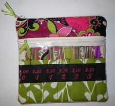 Knitting Needle Case for 4 to 6 inch double-pointed needle sets. $45.00, via Etsy.
