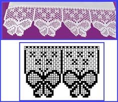 Häkeln Borte Bordüre Spitzen - crochet edging lace border BARRADOS DE CROCHÊ Many wonderful charts before you reach this one. Crochet Boarders, Crochet Lace Edging, Crochet Motifs, Thread Crochet, Crochet Trim, Love Crochet, Irish Crochet, Crochet Doilies, Crochet Stitches