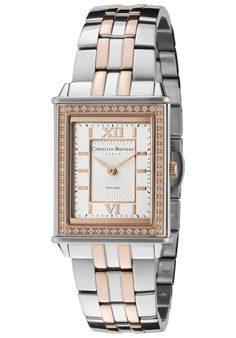 Price:$197.19 #watches Christian Bernard NX518ZAD, Delicate combination between traditional Swiss watch spirit and Parisian style. Parisian Style, Square Watch, Delicate, Swiss Watch, Christian, Watches, Spirit, Accessories, Traditional