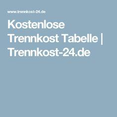 Kostenlose Trennkost Tabelle | Trennkost-24.de