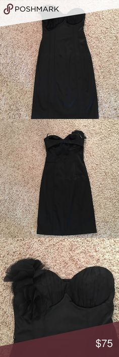 Bebe dress XS BEBE black dress XS .. great used condition .. strapless .. smoke/pet free home bebe Dresses Strapless